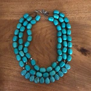 Silpada Turquoise Three Strand Necklace